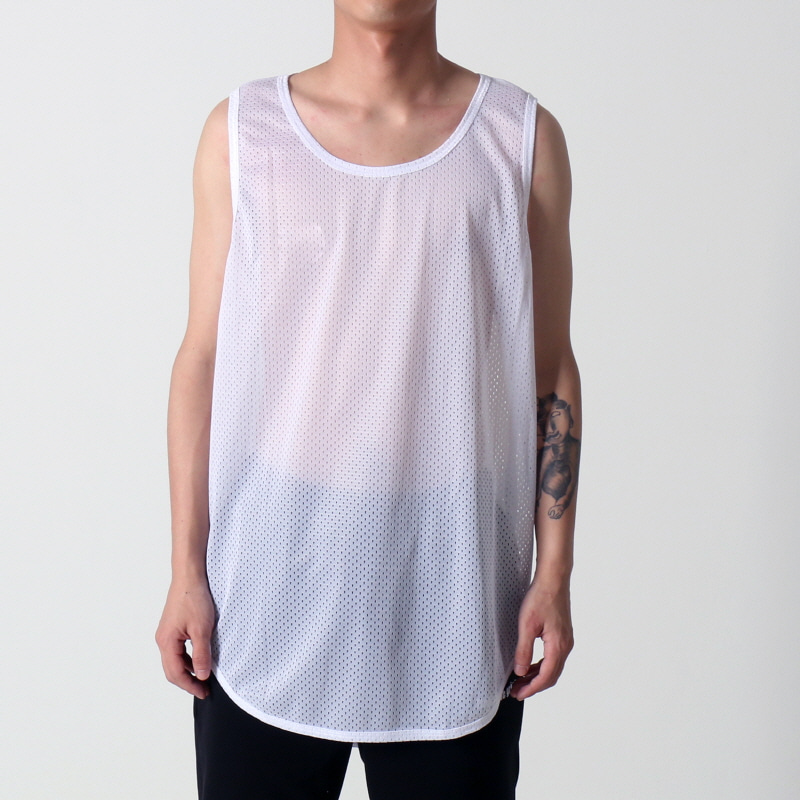 [$ SHOP SALE] [EPTM] MESH OG LONG TANK (WHITE)