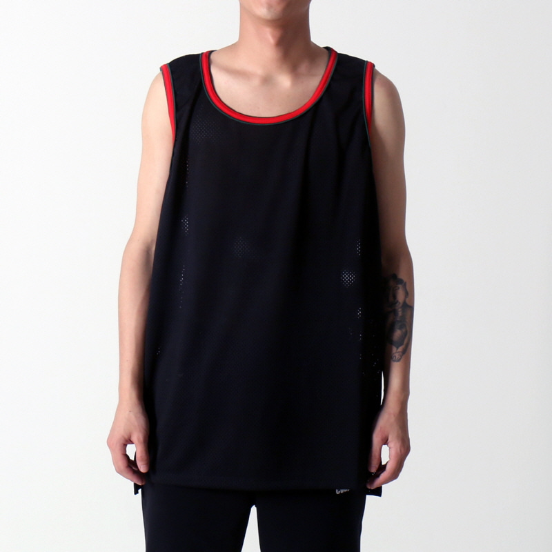 [쿠드그라스 연말 FINAL SALE] [EPTM] HI LO MESH TANK (BLACK/RED/GREEN)