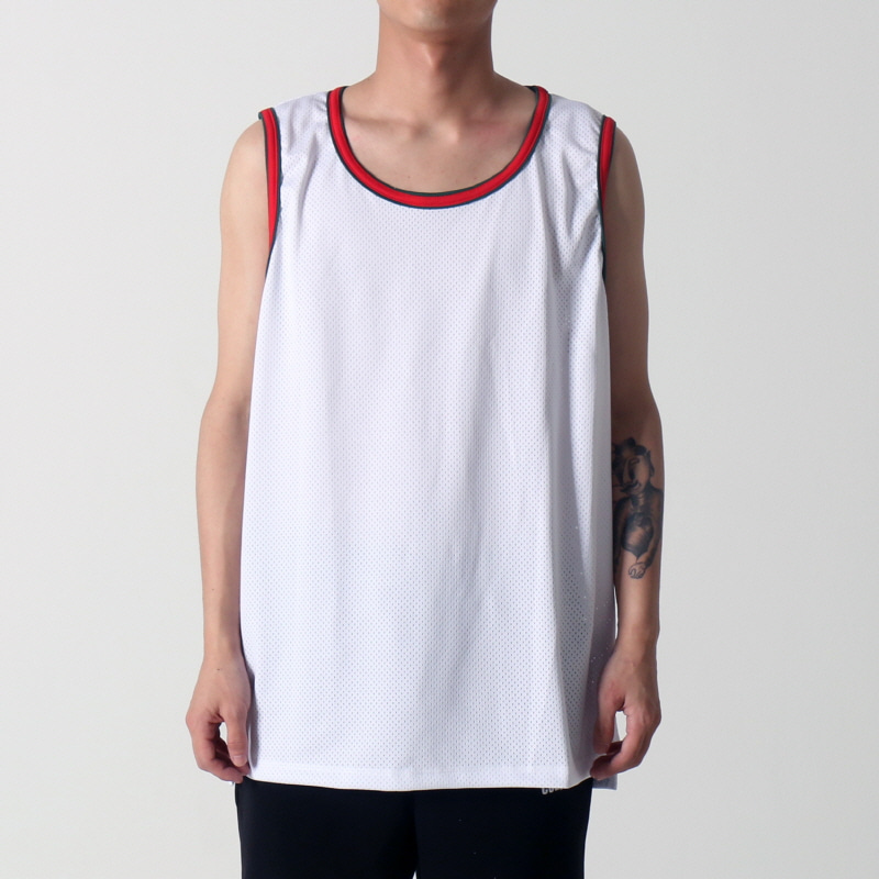 [$ SHOP SALE] [EPTM] HI LO MESH TANK (WHITE/RED/GREEN)