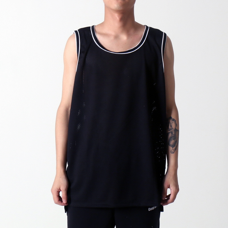 [$ SHOP SALE] [EPTM] HI LO MESH TANK (BLACK)