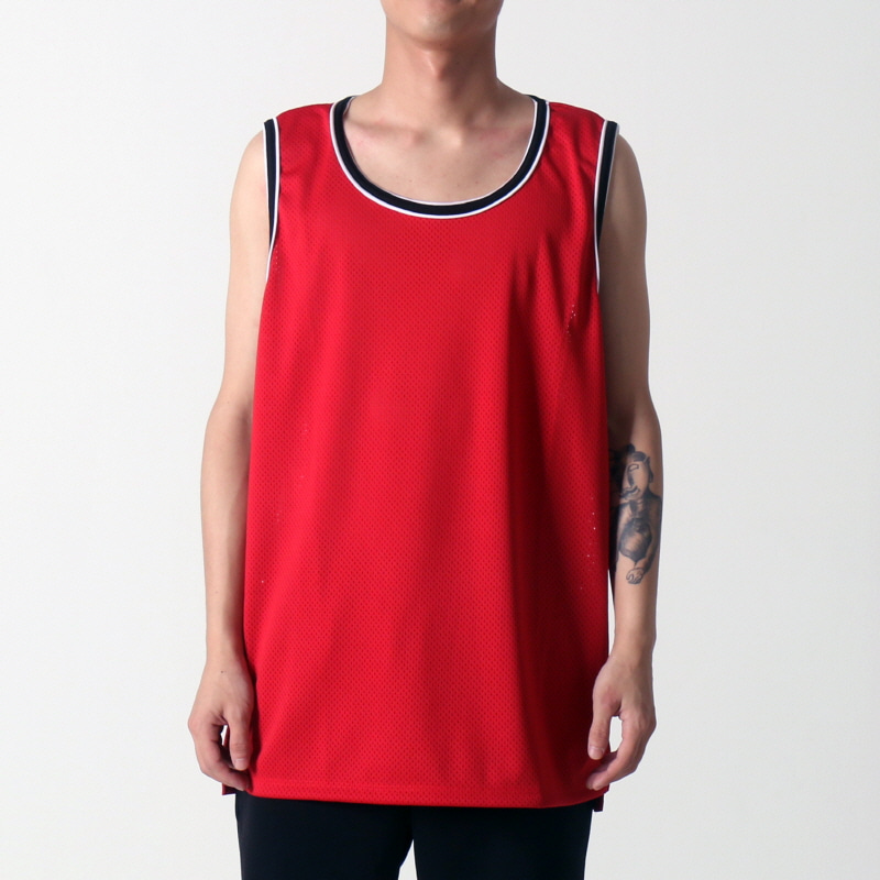 [$ SHOP SALE] [EPTM] HI LO MESH TANK (RED)
