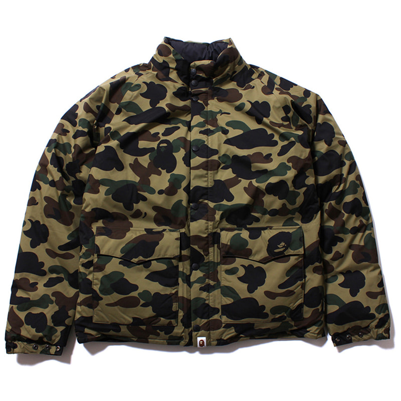 [BAPE] GREEN CAMO DOWN JACKET