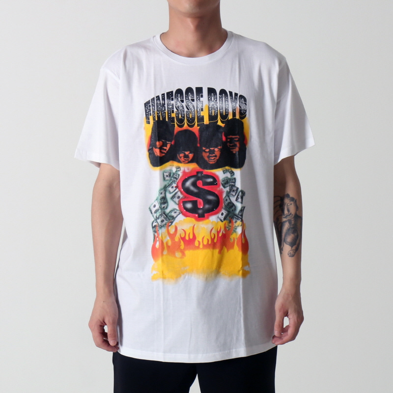 [$ SHOP SALE] [VINTAGE WEAR LA] FINESSE BOYS TEE (WHITE)