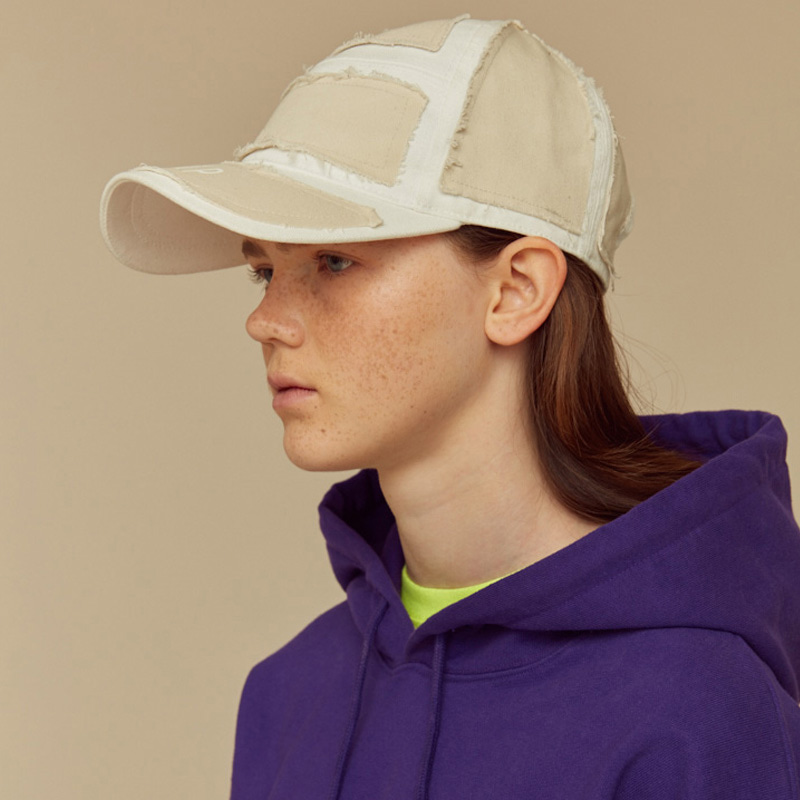 [NTNP] NTNP PANNEL PATCH CAP - WHITE/BEIGE