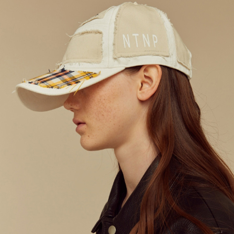 [NTNP] NTNP PANNEL PATCH CAP - BEIGE/YELLOW CHECK