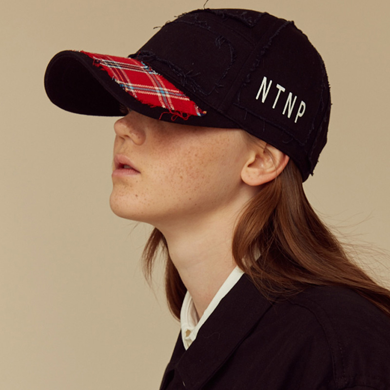[NTNP] NTNP PANNEL PATCH CAP - BLACK/RED CHECK