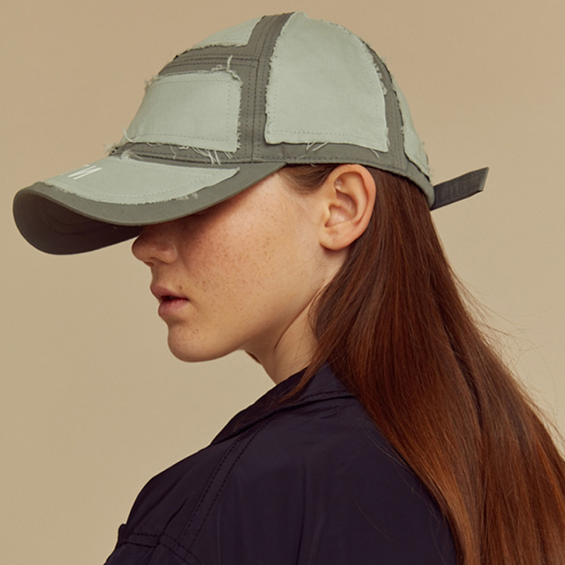 [NTNP] NTNP PANNEL PATCH CAP - GREY/MINT