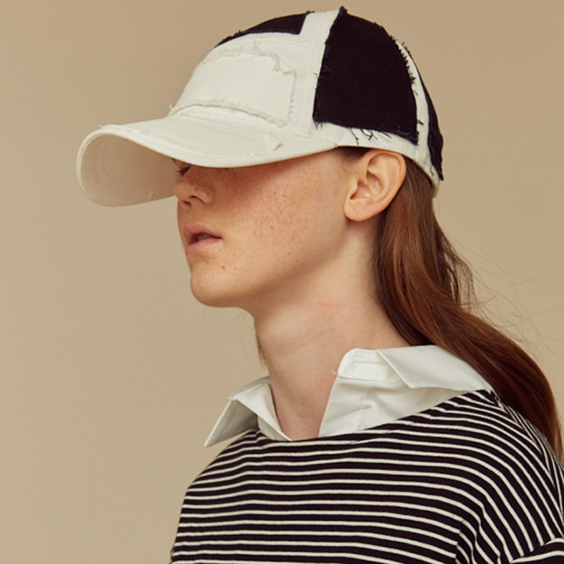 [NTNP] NTNP PANNEL PATCH CAP - WHITE/BLACK