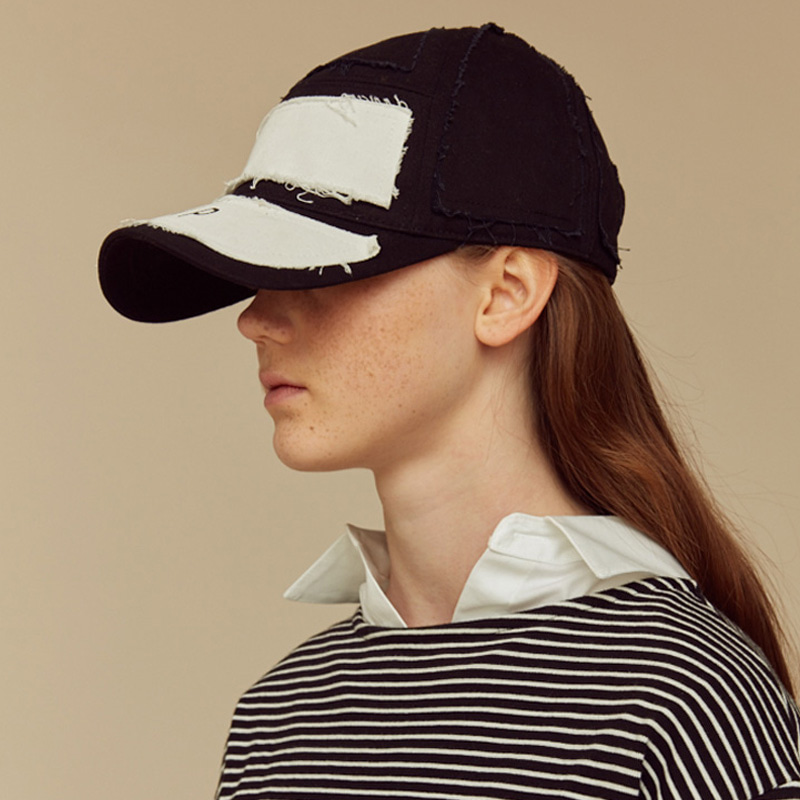 [NTNP] NTNP PANNEL PATCH CAP - BLACK/WHITE