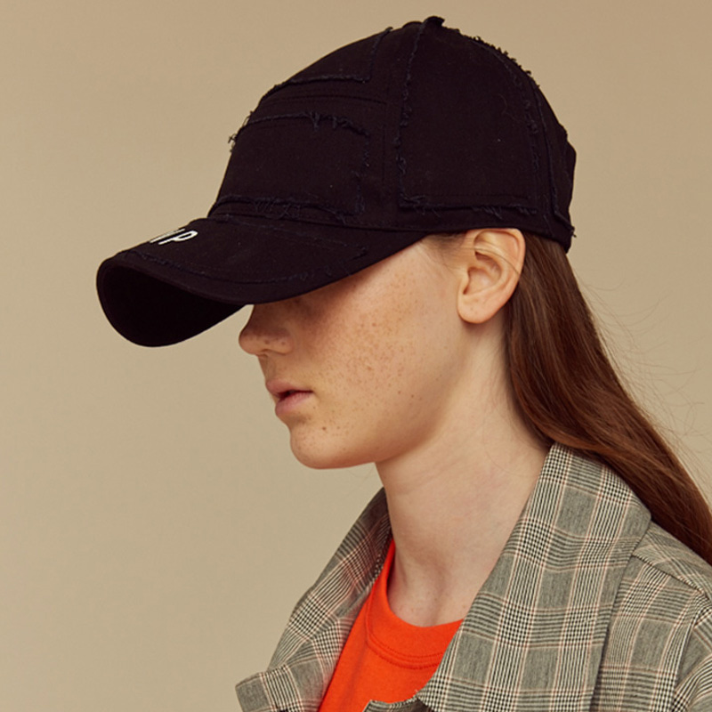 [NTNP] NTNP PANNEL PATCH CAP - BLACK/BLACK
