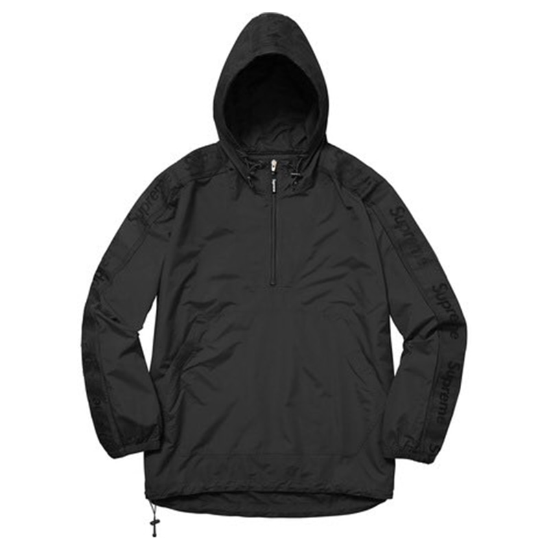 [SUPREME] SLEEVE TAPE ANORAK JACKET (BLACK)