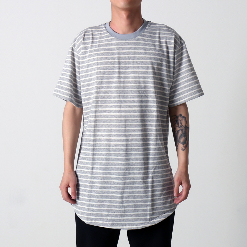 [$ SHOP SALE] [EPTM] STRIPE 2.0 OG LONG TEE (H GREY/WHITE)