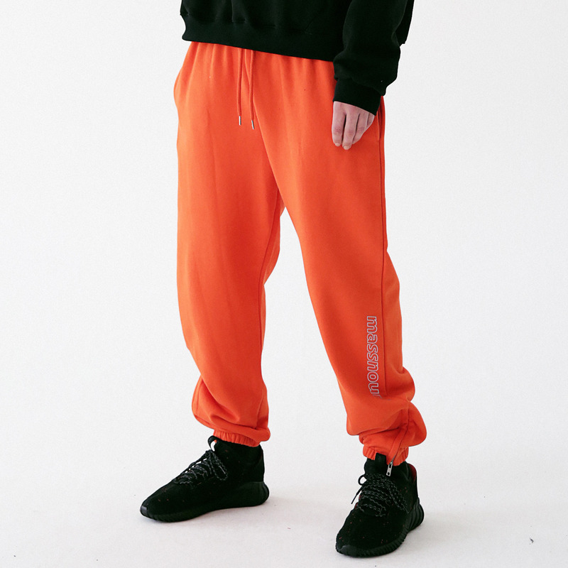 [MASSNOUN] SCOTCH LOGO SIDEZIP SWEAT JOGGER MFVTP001-OR