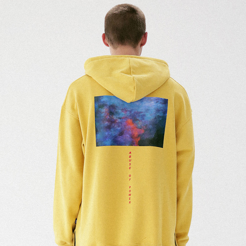 [MASSNOUN] HELL IS REAL SIDEVENT HOODIE MFVHD002-YL