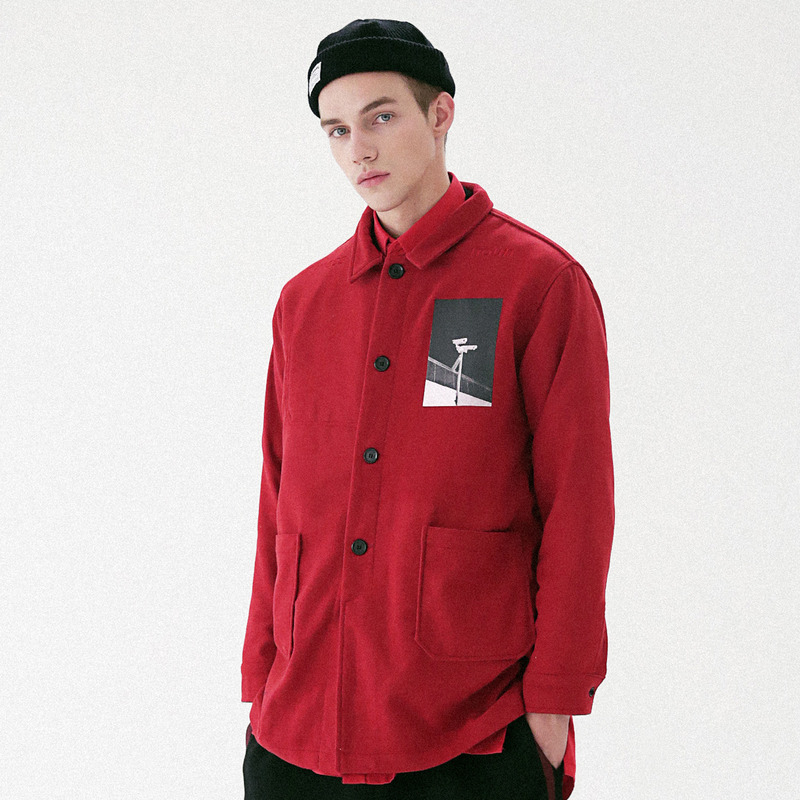 [MASSNOUN] OBSERVER SINGLE WOOL COAT MFVCT002-RD
