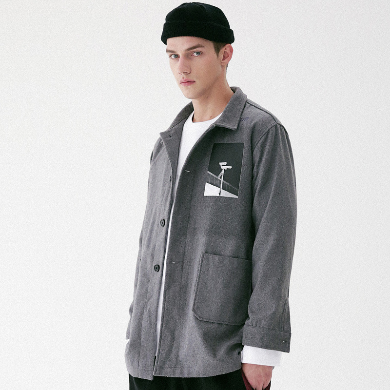 [MASSNOUN] OBSERVER SINGLE WOOL COAT MFVCT002-GR