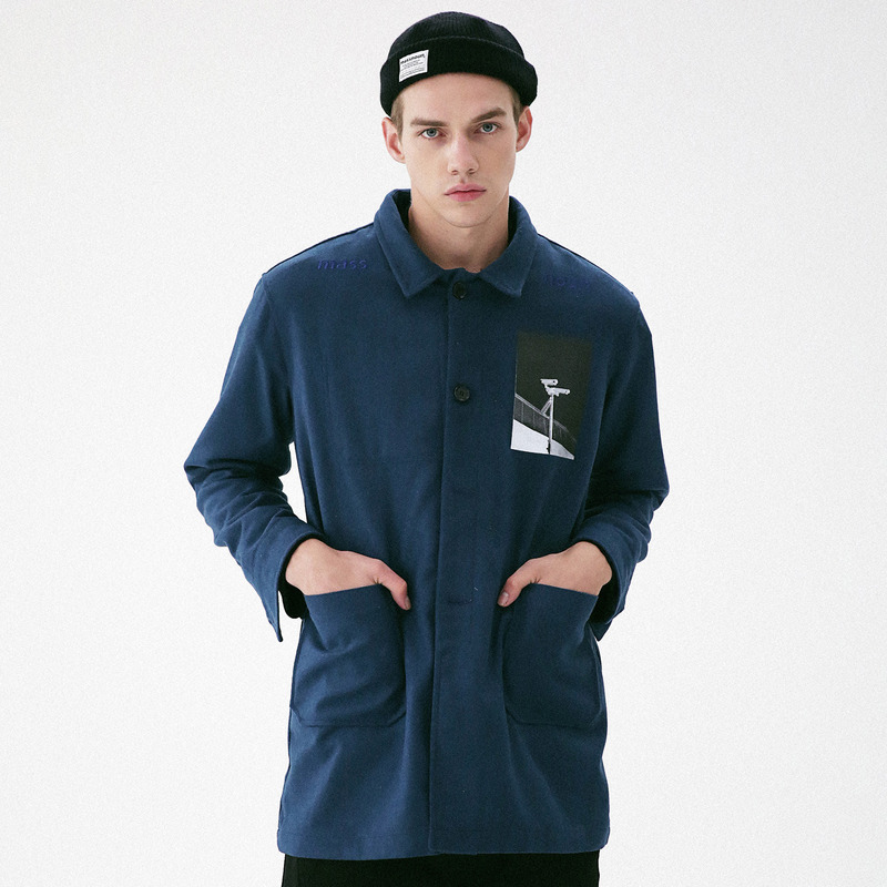 [MASSNOUN] OBSERVER SINGLE WOOL COAT MFVCT002-DB