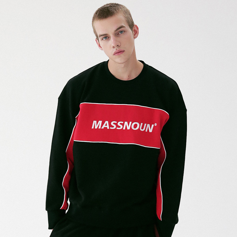 [MASSNOUN] SECTION LOGO CREWNECK SWEATSHIRT MFVCR004-BR