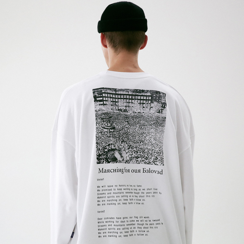 [MASSNOUN] MOVEMENT OVERSIZED CREWNECK MFVCR002-WT