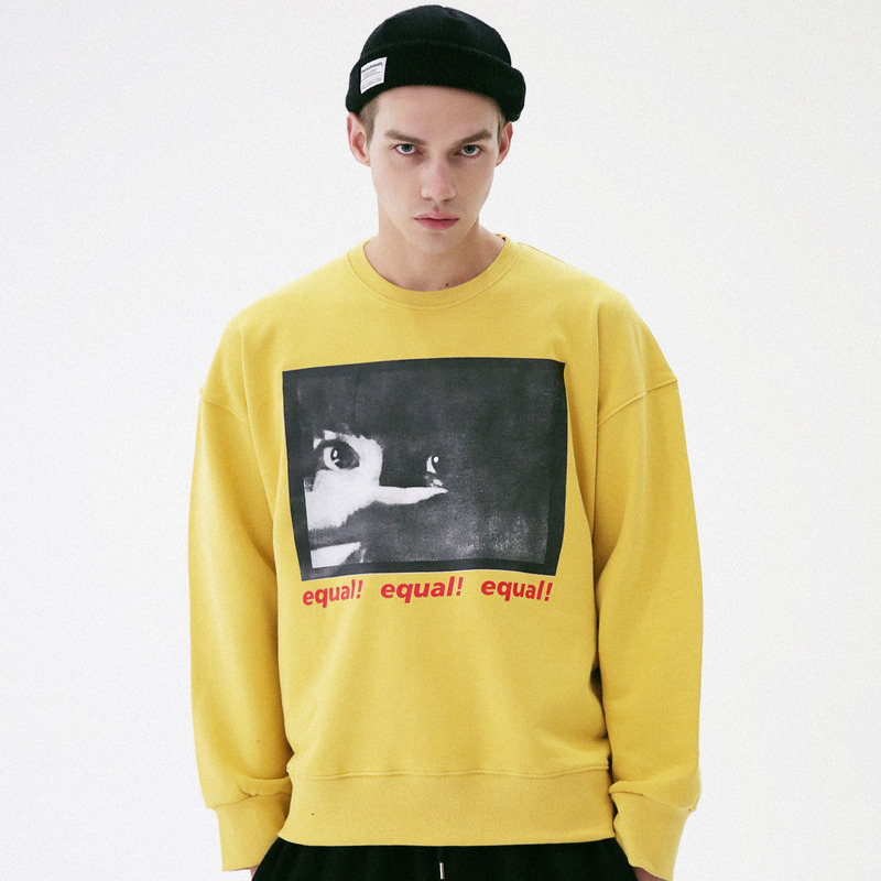 [MASSNOUN] THREAT CREWNECK SWEATSHIRT MFVCR001-YL