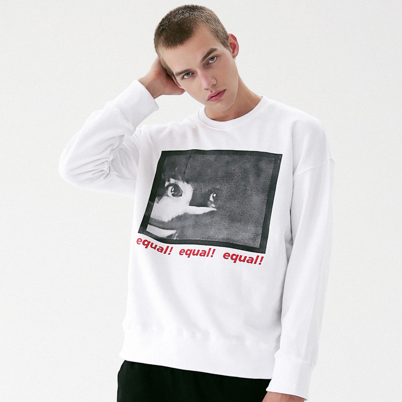 [MASSNOUN] THREAT CREWNECK SWEATSHIRT MFVCR001-WT