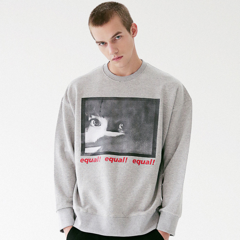 [MASSNOUN] THREAT CREWNECK SWEATSHIRT MFVCR001-GR