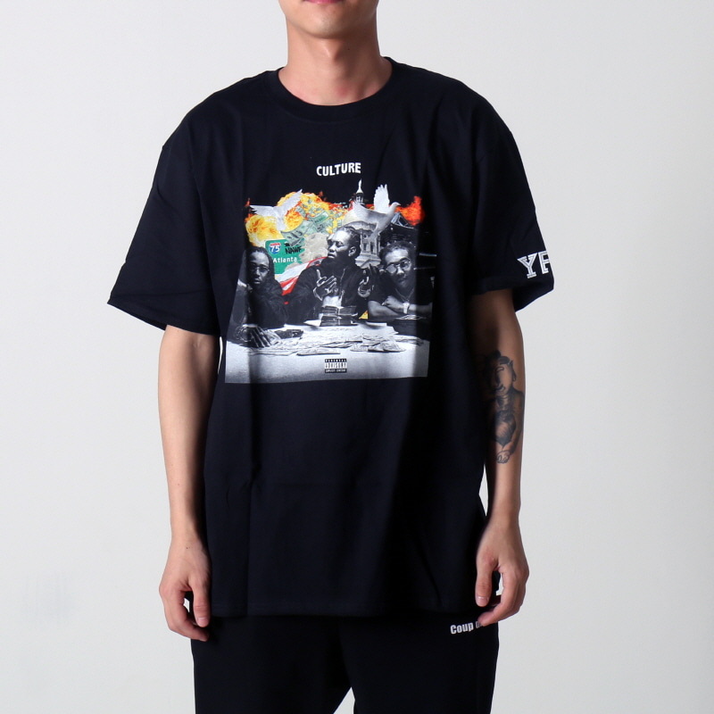 [YRN] ROUND TABLE TEE (BLACK)