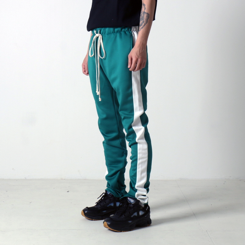 [$ SHOP SALE] [EPTM] TECHNO TRACK PANTS (KELLY GREEN/WHITE)