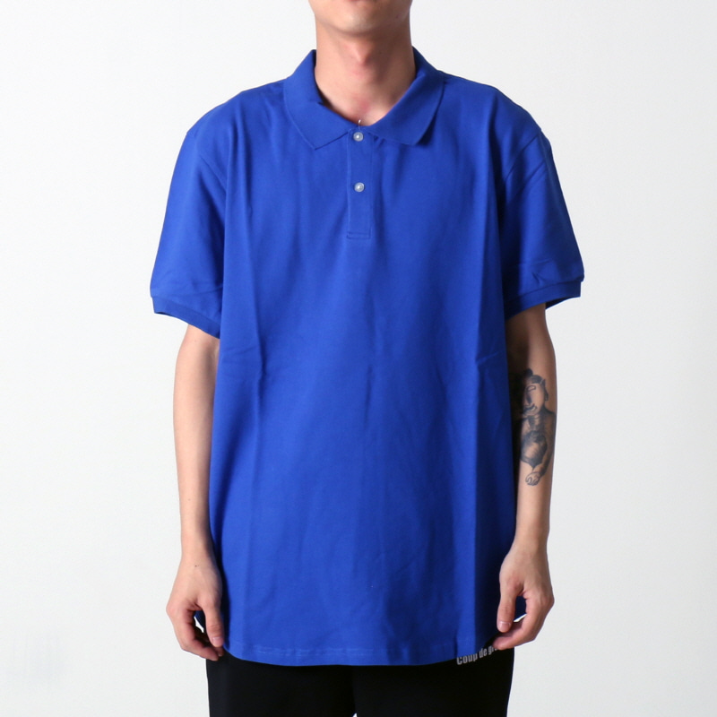 [$ SHOP SALE] [EPTM] SCOOP PIQUE POLO (BLUE)