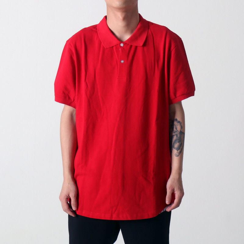 [$ SHOP SALE] [EPTM] SCOOP PIQUE POLO (RED)