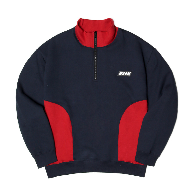 [NSTK] NSTK ZIP-UP NECK (NAVY)