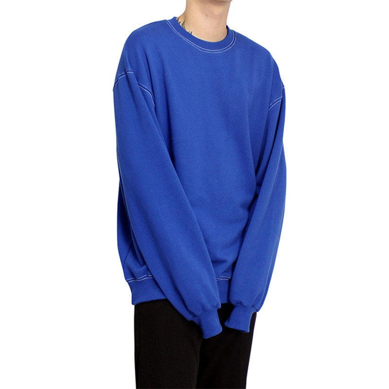 [CLACO] STITCH SWEAT SHIRT (BLUE)