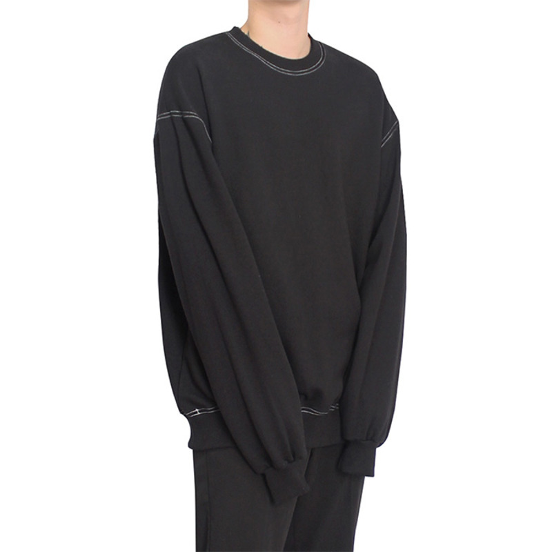 [CLACO] STITCH SWEAT SHIRT (BLACK)