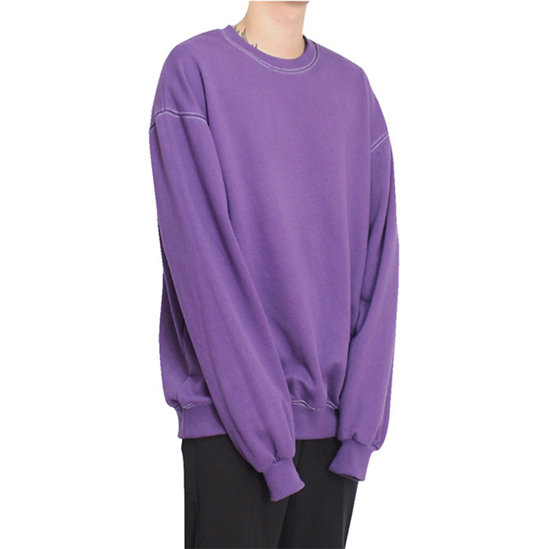 [CLACO] STITCH SWEAT SHIRT (PURPLE)