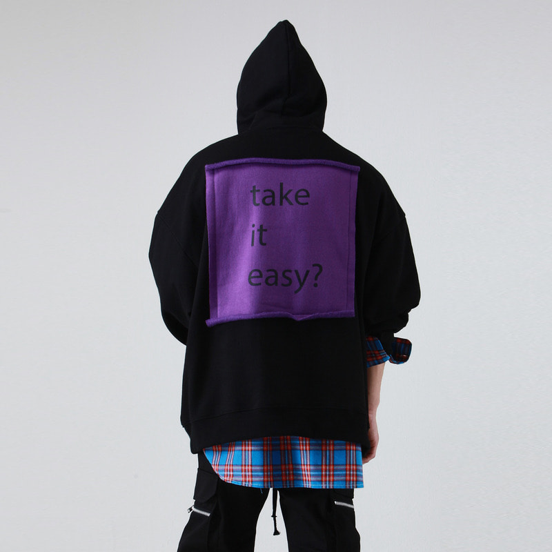 [TAKEASY] TAKEASY OVER HOOD PULLOVER (BLACK)