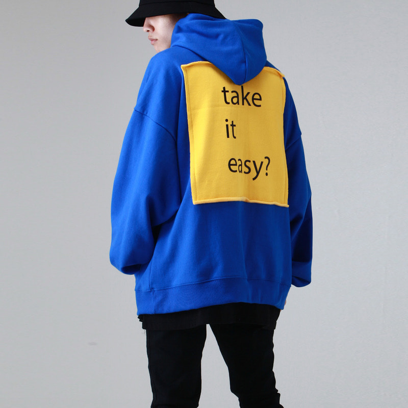 [TAKEASY] TAKEASY OVER HOOD PULLOVER (BLUE)
