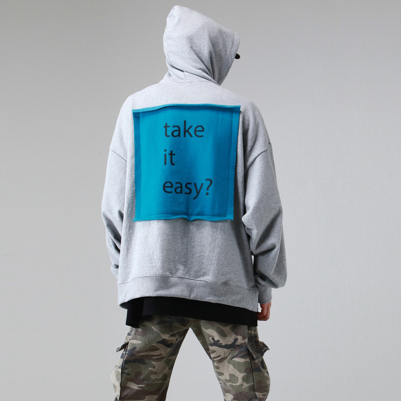 [TAKEASY] TAKEASY OVER HOOD PULLOVER (MELANGE GRAY)