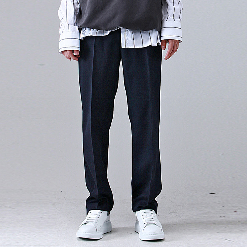 [TAKEASY] WIDE SLACKS (NAVY)