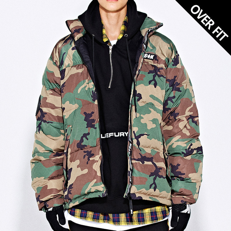 [NSTK] LIKE FURY PADDING JACKET (CAMO)