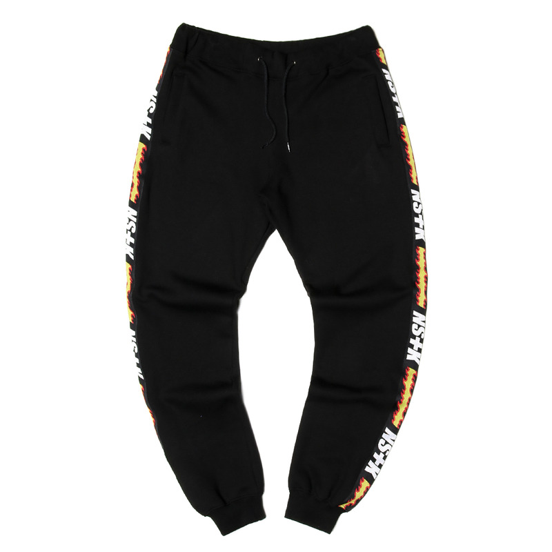 [NSTK] FLAME FURY SWEAT PANTS (BLK)