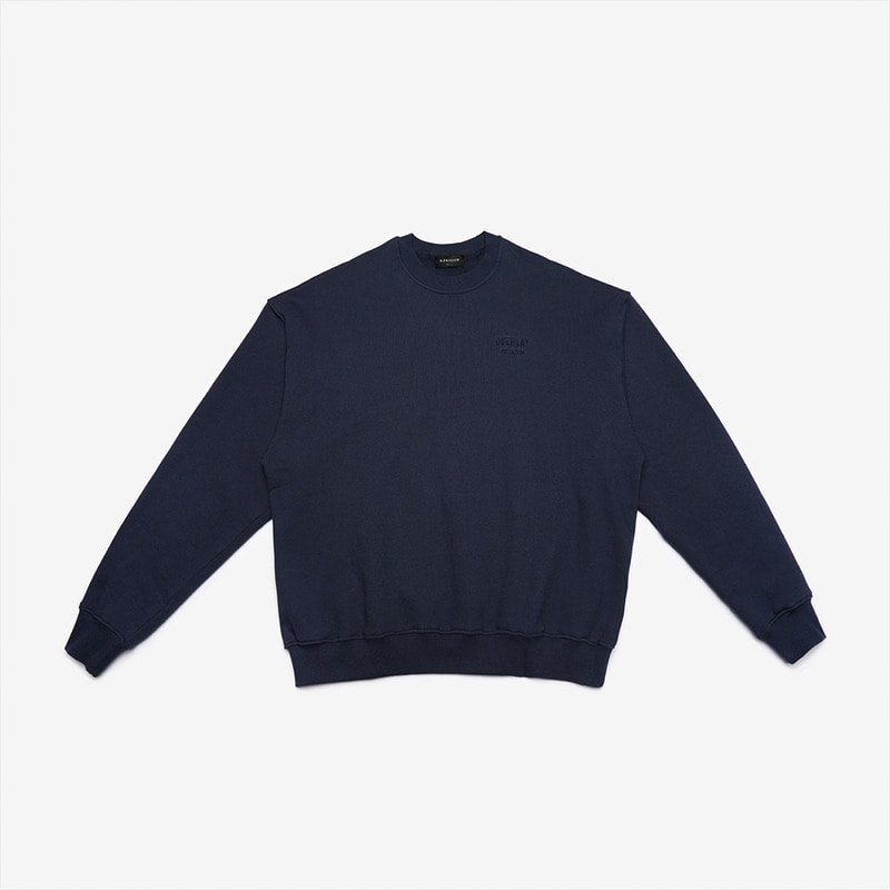 [DPRIQUE] OVERSIZED CLASSIC SWEATSHIRT- NAVY