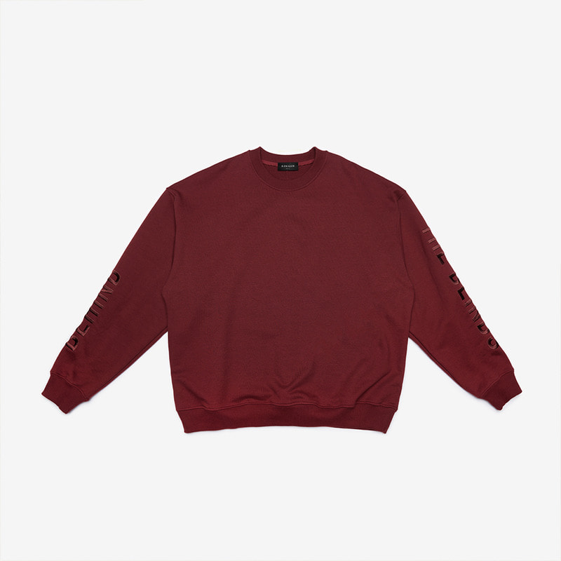 [DRPIQUE] OVERSIZED SLOGAN SWEATSHIRT - BURGUNDY