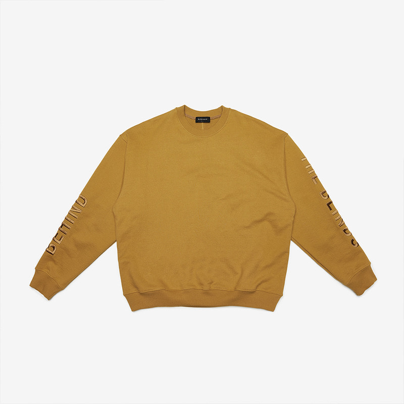 [DPRIQUE] OVERSIZED SLOGAN SWEATSHIRT - MUSTARD