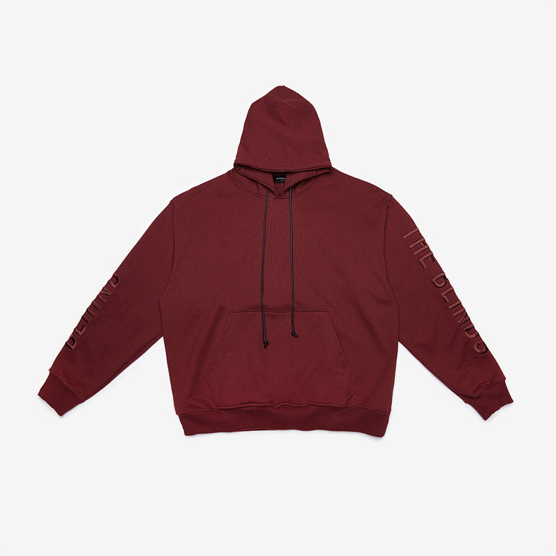 [DPRIQUE] OVERSIZED SLOGAN HOOD - BURGUNDY