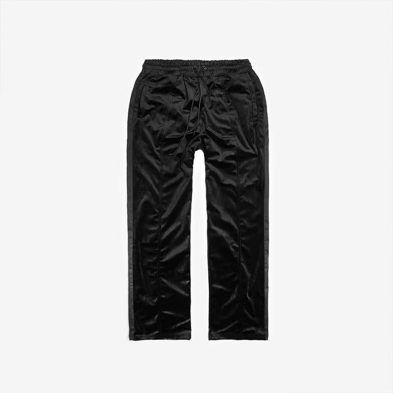 [DPRIQUE] VELOUR TRACK PANTS - BLACK