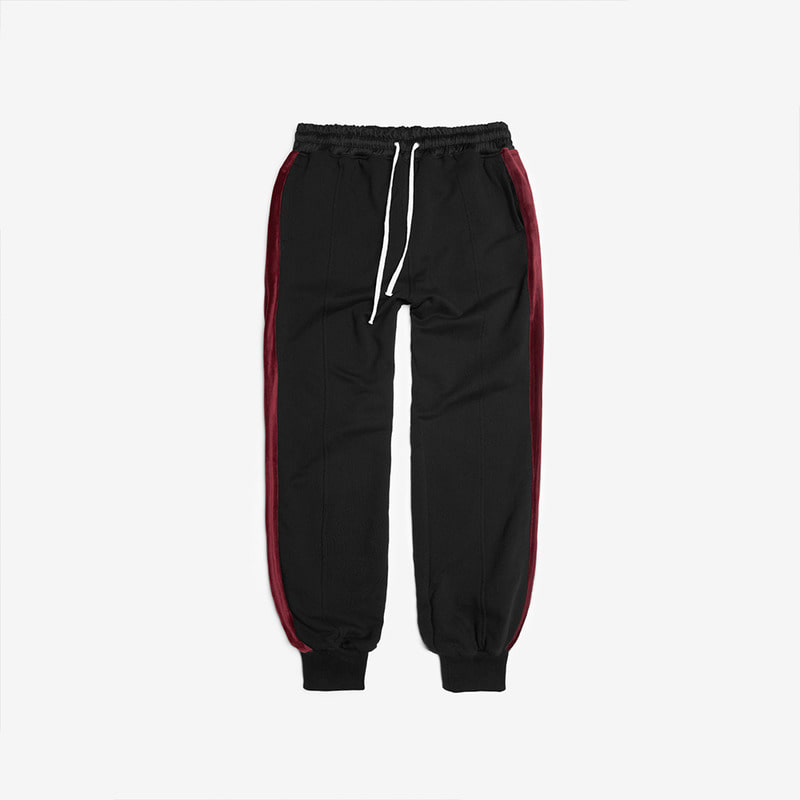 [DPRIQUE] TRACK JOGGER PANTS - BURGUNDY