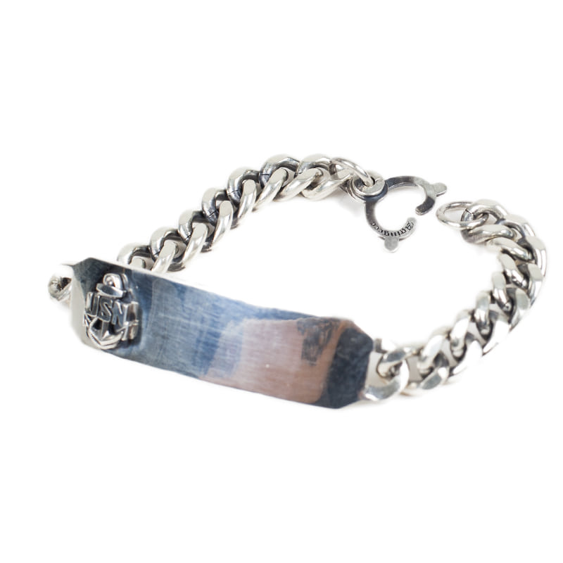 [AGINGCCC] 160# USN HHD ID BRACELET-SILVER