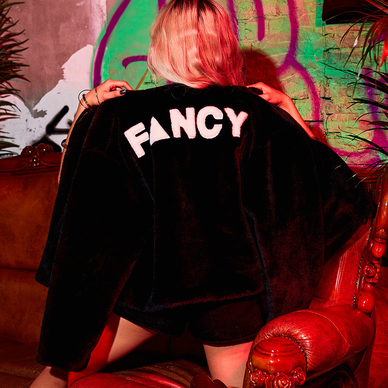 [NSTK] FANCY FUR JACKET (BLK)