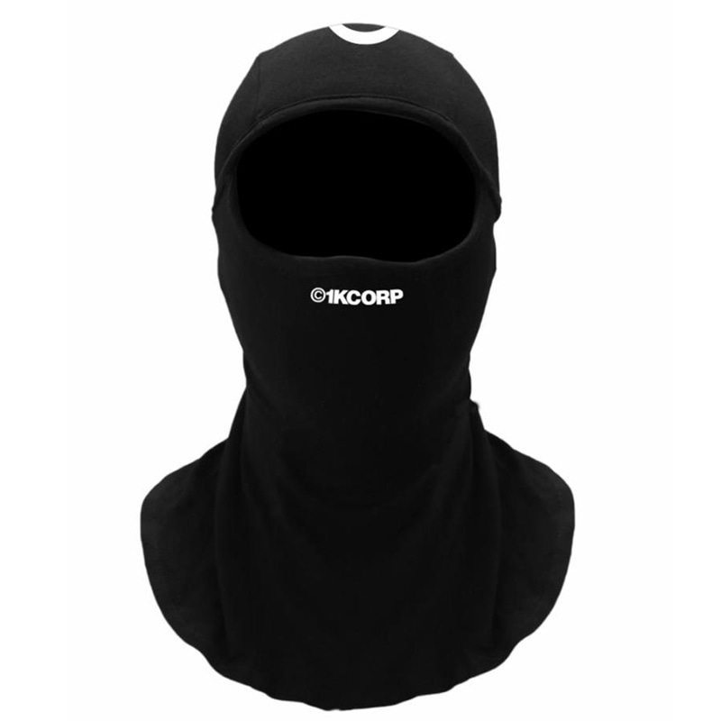 [쿠드그라스 연말 FINAL SALE] [1KCORP] LOGO BALACLAVA (BLACK/WHITE)