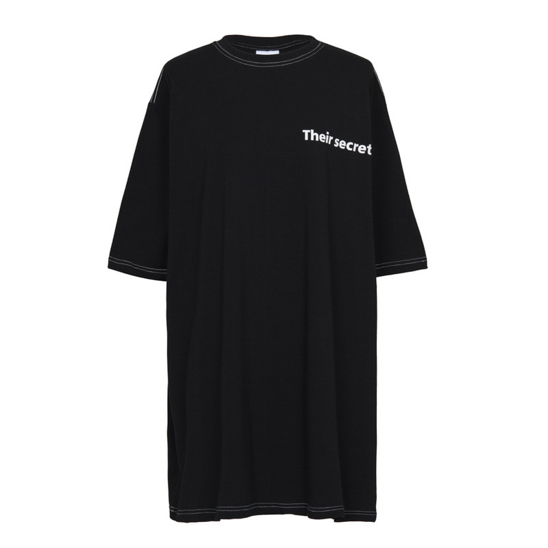 [VAN CALLE CAMINOS] Calle secrets oversized T-shirt (Black)
